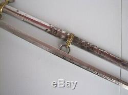 Springfield Armory Post US Civil War Model 1860 Staff & Field Sword withScabbard