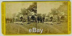 Stereoview Anthony Civil War Views. Bodies laid out for interment. Neg by Brady