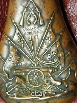 Super Rare 1851 Colt Patent NAVY Powder Flask pre Civil War Powder Flask