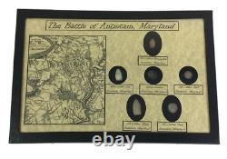 The Battle of Antietam, Maryland Civil War Display Set Bullets & Button