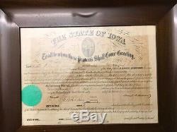 UNION CIVIL WAR SWORD & SCABBARD Artillery Saber with Documents Iowa Volunteers