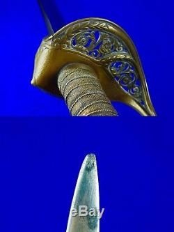 US Antique Civil War C. Roby Foot Officer's Engraved Sword
