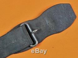 US Civil War British English Import Sword Belt with Snake Buckle