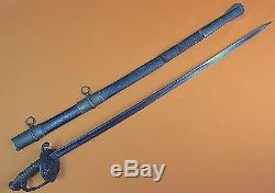 US Civil War Collins Foot Officer's Sword with Scabbard
