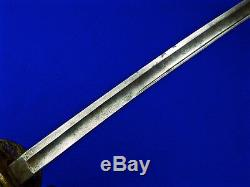 US Civil War German Made Presentation Grade Engraved Foot Officer's Sword