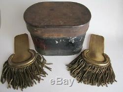 US Civil War-Indian Wars Officers Epaulettes withTin Epaulets Shoulder Boards
