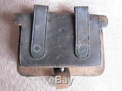 US Civil War Infantry Cartridge Box-Small Ammo Pouch-J. E. Condict New York