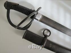 US Civil War Model 1840 Heavy Cavalry Sword withScabbard Wristbreaker