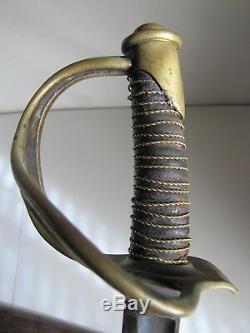 US Civil War Model 1840 Heavy Cavalry Sword withScabbard-Wristbreaker-Confederate