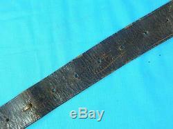 US Civil War National Guard Pennsylvania Leather Belt with Buckle Sword Hangers