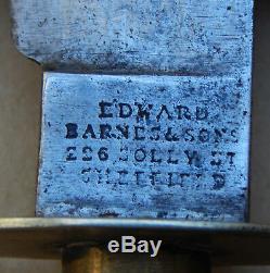 US Civil War era Bowie Knife by Edward BARNES & Sons 228 Solly Street Sheffield
