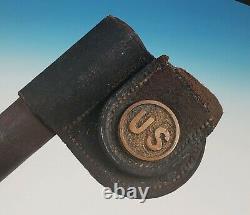 US Model 1873 Socket Bayonet with Scabbard M1873 M1855 Post Civil War Trapdoor