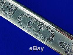 US Post Civil War Model 1833 Militia City Troops Engraved Dragoon Saber Sword