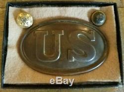 US Union Civil War Buckle w Buttons