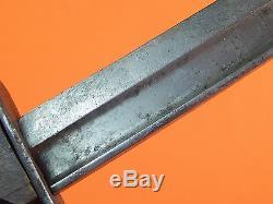 US WW2 Custom Hand Made Civil War Sword Blade Theater Fighting Knife with Sheath