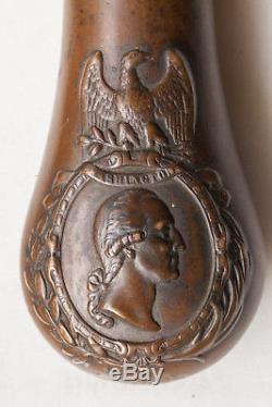 US civil war George Washington eagle small powder flask very rare