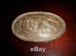 U. S. Civil War Cartridge Box Plate Recovered Taneytown Rd. Gettysburg