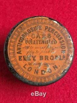 U. S. Civil War era Eley Brothers London Percussion Cap Tin