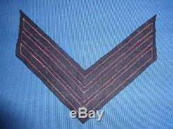 Union Artillery CIVIL War Sergeant Chevron Original Regulation Applied Stripes