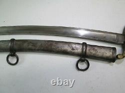 Us CIVIL War Artillery Sword With Scabbard Ames Makers