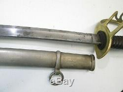 Us CIVIL War Cavalry Sword W Scabbard Dated 1862 Rare Millard Makers Mark #t162