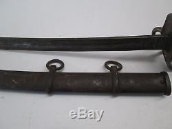 Us CIVIL War Cavalry Sword With Scabbard Blade Marked Ames Dated 1865 #p57