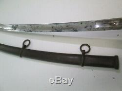 Us CIVIL War Cavalry Sword With Scabbard Dated 1863 Ames Makers Mark Clean #sy15