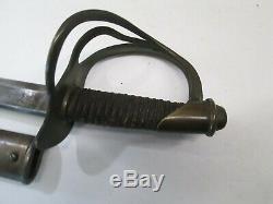 Us CIVIL War Heavy Cavalry Wristbreaker Sword W Scabbard P. S. Justice Makers Mark