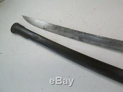 Us CIVIL War Model 1840 Heavy Cavalry Wristbreake Sword W Scabbard Confederate
