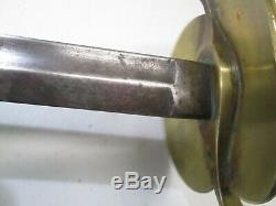 Us CIVIL War Nco Officers Sword With No Scabbard #13 Marked #q43