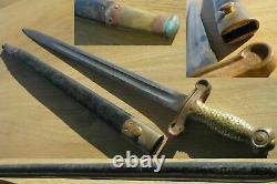 Usn 1870 Navy Short Boarding Sword Ggs Initals With Scabbard Us Post CIVIL War
