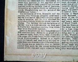 VERY Rare CONFEDERATE Richmond Va BATTLE OF GETTYSBURG 1863 Civil War BROADSIDE