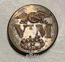 Vermont Militia Pre Civil War Coat Button