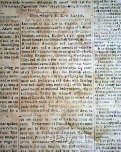 Very Rare & Famous WALLPAPER Vicksburg MS Mississippi 1863 Civil War Newspaper