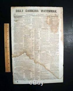 Very Rare SALISBURY NC North Carolina CONFEDERATE Civil War 1864 Old Newspaper