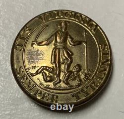 Virginia Pre Civil War Coat Button