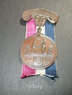 West Virginia Infantry Honorable Discharge Civil War Medal. Named, 10th W. VA Inf