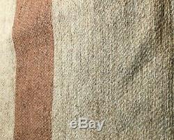 Whole, Original, Civil War Two Stripe Blanket from Vermont Estate